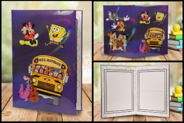 Paspartu Animasyonlu Okul Albümü